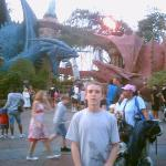 Dueling Dragons Entrance.  The Red one is FIRE and the Blue one is ICE.  You can choose wich one