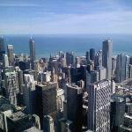 Downtown Chicago from the top of Willis Tower