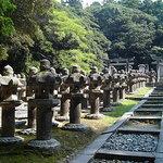 Stone lanterns, Hagi, Yamaguchi Pref., Japan