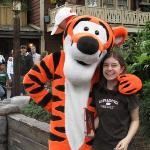 Olivia & Tigger at Disneyland.