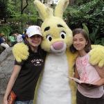 Olivia, Rabbit & Emma at Disneyland.