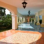 Hacienda Hotel connecting corridor