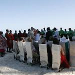 Masai warriors, a church choir and our family and friends around us