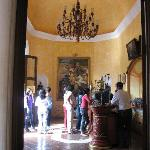 The lobby at Cuervo where you register for the tour