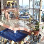 la reception dell'albergo