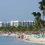 the high-rise hotel beach just 5 minutes walk from Punta Salina