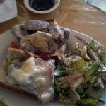 Vesuvius Lunch Sub - Spicy Sausage with Artichoke