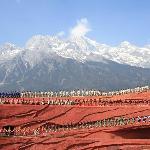 Grand Zhang YiMou Show at foot of  Jade Dragon Snow Mountain