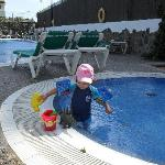 our little one in small pool 4 kids
