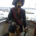 Pirate on the Widow's Walk of the Aquarium