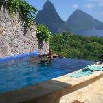 Our in-room pool w/ view of the Pitons