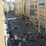 View of the Gran Via from our 8th Floor room