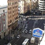 Another view of the Gran Via from our 8th Floor room