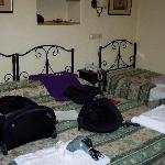 These were the beds.