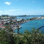 view from the Fort at the top of the hill in Marigot