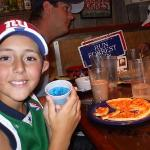 Isaiah and his BLUE JELLO!!!