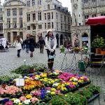 Flower market at Grand Place