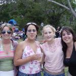 Kasey, Anna, Wendy, and me at this park in Sydney guarding the space while the boys are screwing