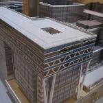 model of developments 'around' the hotel