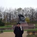 Chopin's Monument in Lazienki Park , Warsaw, Poland, Nov'08