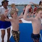 dancing on the party boat