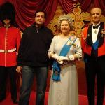 WITH QUEEN ELIZABETH II  & PRINCE PHILIP-DUKE OF EDINBURGH @ MADAME TUSSAUDS,LONDON,ENGLAND