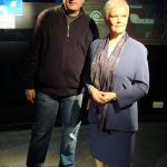 WITH JUDI DENCH-M @ MADAME TUSSAUDS,LONDON,ENGLAND