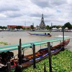 View towards Wat Arun (Temple of Dawn) Bangkok
