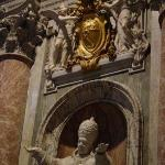 Detail of Pope Pius X's statue
