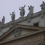 Some details of the statues on the facade
