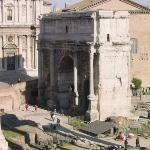 A view at the Arch of Septimius Severus
