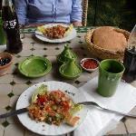 comida en restaurante