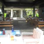 Pool restaurant leading onto reception area