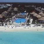 view of the resort from the air