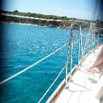 sailing up to Buck Island