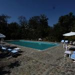 The swimming pool at the Tiger Tops Tharu Lodge in Chitwan National Park in Nepal