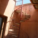 spiral staircase from deck to private roof