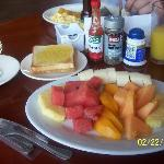 Continental breakfast!  The fruit is soooo fresh!