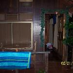The front of our cabin at Arenal Green