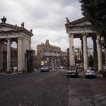 Gates of ROme as we left Piazza Polpolo