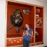Artazia and Dude (her turtle)