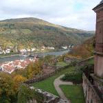 View of gardens,  Heidelburg Castle