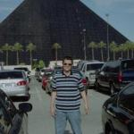 In front of the Luxor