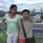 Standing on the London bridge W/ Jacky overlooking tower bridge