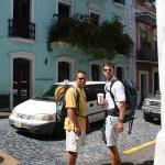 Clark and Brandon on the streets of Puerto Rico.