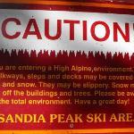 Bilde fra Sandia Peak Tramway