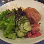 Fish Cake and Salad