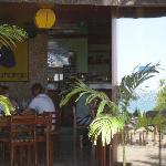 restaurant & reflection of beach