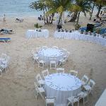 Wedding dinner on beach
