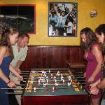 foosball at the sports bar